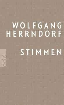 Wolfgang Herrndorf: Stimmen, Buch