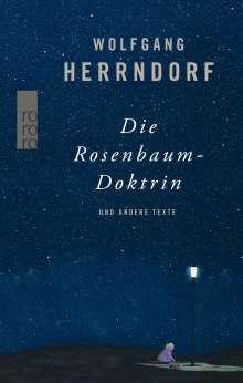Wolfgang Herrndorf: Die Rosenbaum-Doktrin, Buch