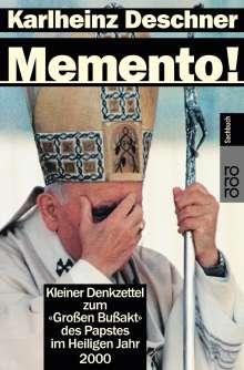 Karlheinz Deschner: Memento!, Buch
