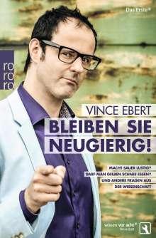 Vince Ebert: Bleiben Sie neugierig!, Buch