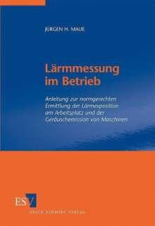 Jürgen H. Maue: Lärmmessung im Betrieb, Buch