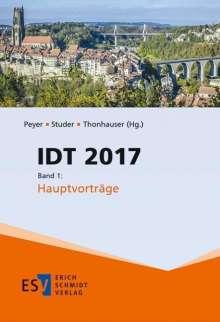 IDT 2017. Band 1: Hauptvorträge, Buch