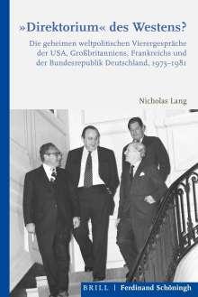 "Nicholas Lang: ""Direktorium"" des Westens?, Buch"