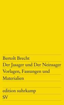 Bertolt Brecht: Der Jasager und Der Neinsager, Buch