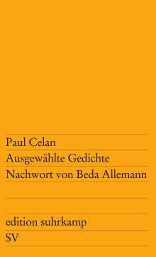 Paul Celan: Ausgewählte Gedichte, Buch