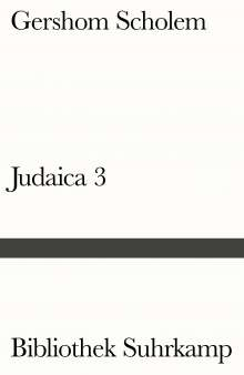 Gershom Scholem: Judaica III, Buch