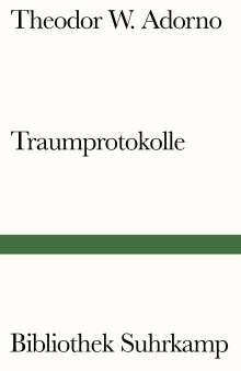 Theodor W. Adorno: Traumprotokolle, Buch