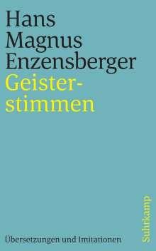 Hans Magnus Enzensberger: Geisterstimmen, Buch