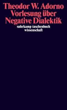 Theodor W. Adorno: Vorlesung über Negative Dialektik, Buch