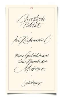 Christoph Ribbat: Im Restaurant, Buch