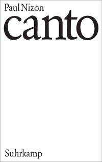 Paul Nizon: Canto, Buch