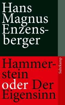 Hans Magnus Enzensberger: Hammerstein oder Der Eigensinn, Buch