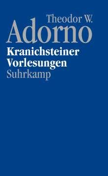 Theodor W. Adorno: Nachgelassene Schriften. Abteilung IV/17. Vorlesungen, Buch