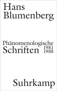Hans Blumenberg: Phänomenologische Schriften, Buch