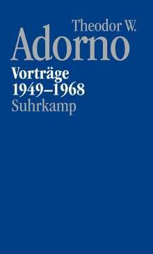 Theodor W. Adorno: Nachgelassene Schriften. Abteilung V: Vorträge und Gespräche, Buch