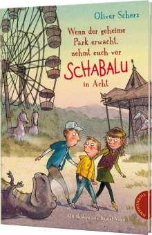Oliver Scherz: Wenn der geheime Park erwacht, nehmt euch vor Schabalu in Acht, Buch