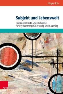 Jürgen Kriz: Subjekt und Lebenswelt, Buch