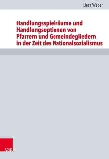 Liesa Weber: Handlungsspielräume und Handlungsoptionen von Pfarrern und Gemeindegliedern in der Zeit des Nationalsozialismus, Buch