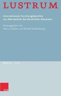 Lustrum Band 57 - 2015, Buch