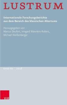 Lustrum Band 60 - 2018, Buch