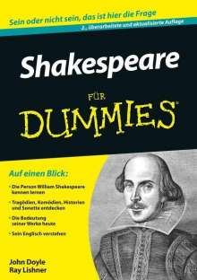 John Doyle: Shakespeare für Dummies, Buch
