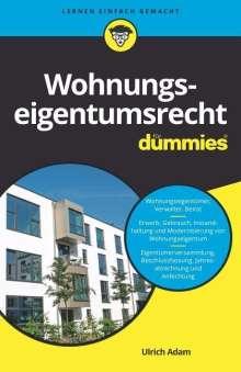 Ulrich Adam: Wohnungseigentumsrecht für Dummies, Buch