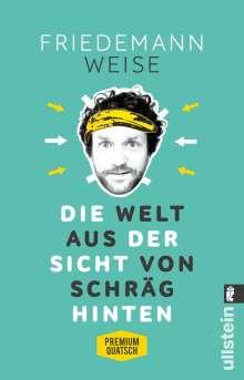 Friedemann Weise: Die Welt aus der Sicht von schräg hinten, Buch