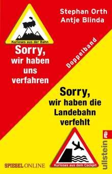 Antje Blinda: »Sorry, wir haben die Landebahn verfehlt« & »Sorry, wir haben uns verfahren«, Buch