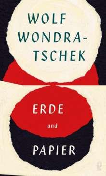 Wolf Wondratschek: Erde und Papier, Buch