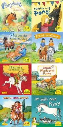 Usch Luhn: Pixi-Bundle 8er Serie. Ponygeschichten mit Pixi (8x1 Exemplar), Diverse