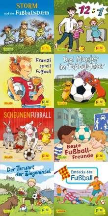 Jan Birck: Pixi-Bundle 8er Serie 267: Pixi spielt Fußball (8x1 Exemplar), Diverse