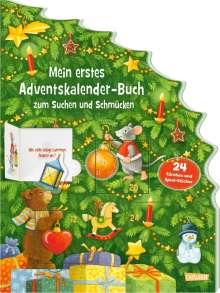 Maria Wissmann: Mein erstes Adventskalender-Buch zum Suchen und Schmücken - Mit 24 Türchen und Spiel-Stickern, Buch