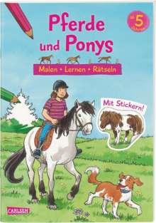 Lena Bachmann: Pferde und Ponys: Malen Lernen Rätseln, Buch