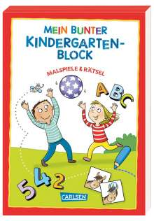 Hanna Sörensen: Mein bunter Kindergarten-Block: Malspiele und Rätsel, Buch