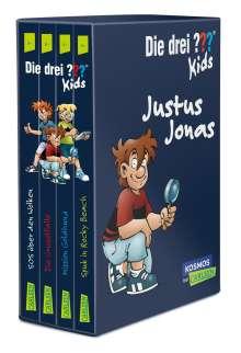 Ulf Blanck: Die drei ??? Kids: 4 Bände im Schuber (SOS über den Wolken, Spuk in Rocky Beach, Die Gruselfalle, Mission Goldhund), Buch