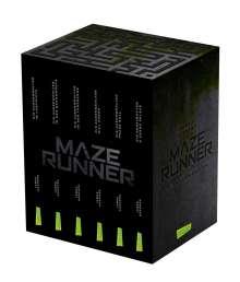 James Dashner: Maze-Runner-Schuber (6 Bände im Taschenbuch-Schuber inklusive Bonusband mit »Crank Palace« und »Die Geheimakten«), Buch