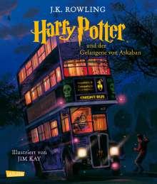 J. K. Rowling: Harry Potter 3 und der Gefangene von Askaban (farbig illustrierte Schmuckausgabe), Buch