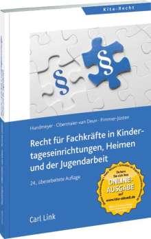 Simon Hundmeyer: Recht für Fachkräfte in Kindertageseinrichtungen, Heimen und der Jugendarbeit, Buch