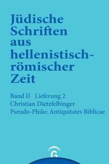 Christian Dietzfelbinger: Pseudo-Philo: Antiquitates Biblicae (Liber Antiquitatum Biblicarum), Buch