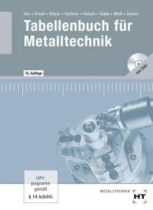 Wilhelm Dax: Tabellenbuch für Metalltechnik - mit DVD, Buch
