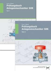 Peter Pusch: Prüfungsbuch Anlagenmechaniker SHK. Teil 1 und Teil 2, Buch