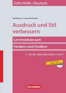 Gerd Brenner: Soforthilfe Deutsch: Ausdruck und Stil verbessern, Buch
