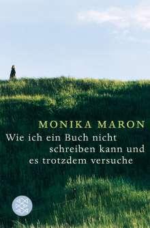 Monika Maron: Wie ich ein Buch nicht schreiben kann und es trotzdem versuche, Buch