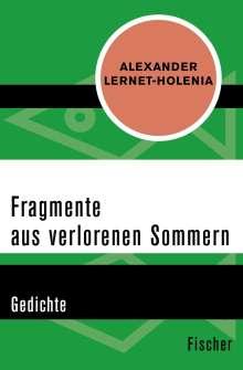 Alexander Lernet-Holenia: Fragmente aus verlorenen Sommern, Buch
