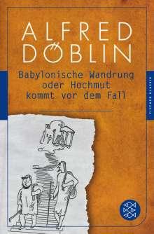 Alfred Döblin: Babylonische Wandrung oder Hochmut kommt vor dem Fall, Buch