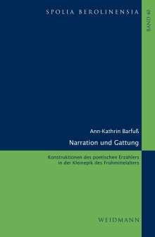 Ann-Kathrin Barfuß: Narration und Gattung, Buch