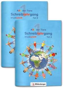 ABC der Tiere 1 - Schreiblehrgang Druckschrift, Teil A und B. Neubearbeitung, Buch