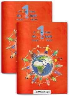 ABC der Tiere 1 - Arbeitsheft Druckschrift, Teil A und B. Neubearbeitung, Buch