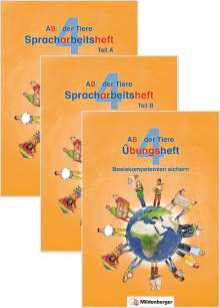 Klaus Kuhn: ABC der Tiere 4 - Spracharbeitsheft Kompakt, 3 Bücher