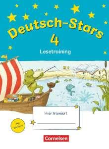 Deutsch-Stars 4. Schuljahr. Lesetraining, Buch